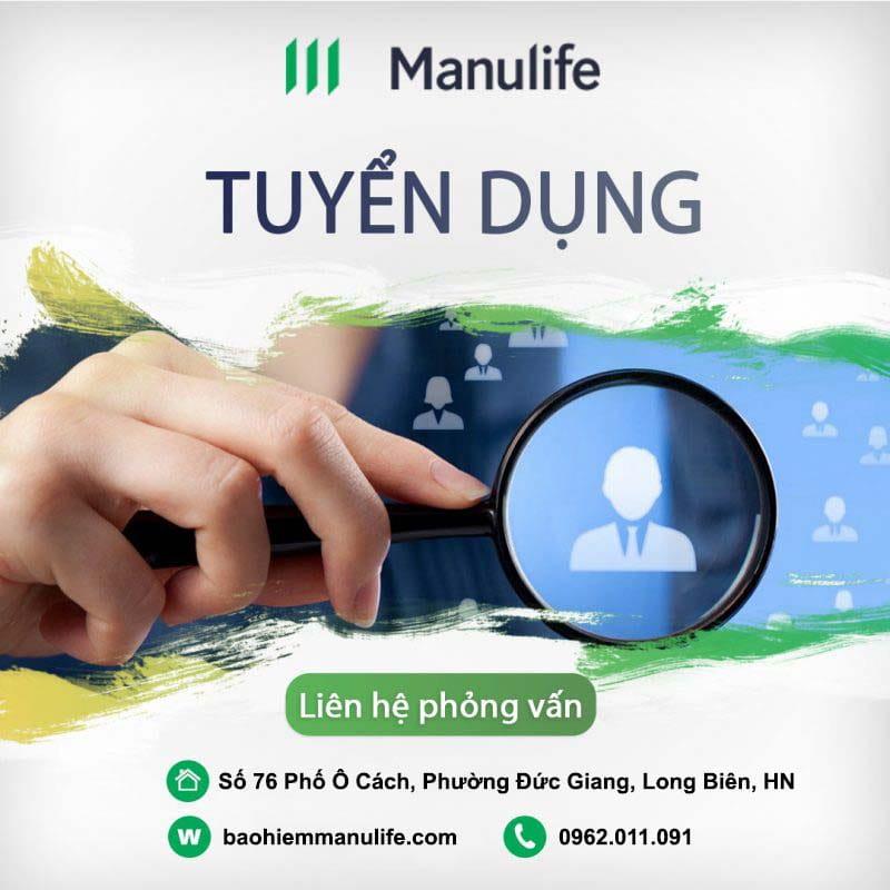 Bảo hiểm Manulife - Tuyển dụng Đại lý mới 2020